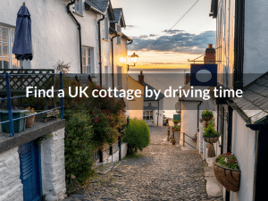 Find a UK cottage by driving time