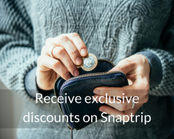Receive exclusive discounts on Snaptrip
