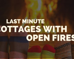 Last minute UK cottages with log fires